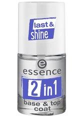essence 2 in 1 Base & Top Coat Nagelunter- und Nagelüberlack  no_color