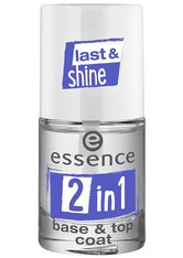 ESSENCE - Essence Nagellack Essence Nagellack 2 IN 1 Base + Top Coat Nagellack 8.0 ml - Base & Top Coat