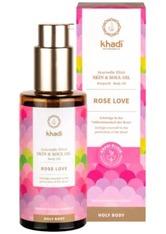 Khadi Naturkosmetik Produkte Holy Body Skin & Soul Oil Körperöl - Rose Love 100ml Körperöl 100.0 ml