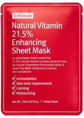 BY WISHTREND - By Wishtrend Natural Vitamin C21 5% Enhancing Sheet Mask Tuchmaske  23 ml - TUCHMASKEN