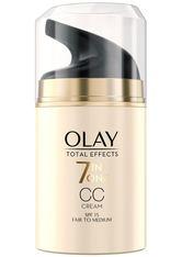 Olay Gesichtspflege Total Effects 7-in-1 CC Feuchtigkeitscreme LSF 15, helle-mittlere Hauttypen Gesichtscreme 50.0 ml