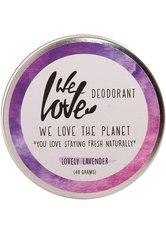 WE LOVE THE PLANET - We Love The Planet Natürliche Deo Creme - Lovely Lavender 48 Gramm - DEODORANTS
