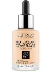 CATRICE - Catrice HD Liquid Coverage Flüssige Foundation  Nr. 002 - Porcelain Beige - FOUNDATION