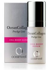 OCEANWELL - Oceanwell Produkte OceanCollagen - Cell Boost Elixir 15ml Anti-Aging Gesichtsserum 15.0 ml - TAGESPFLEGE