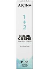 Alcina Haarpflege Coloration Color Creme Spezialblond Permanent Färbend 12.0+ Klarton Plus 60 ml