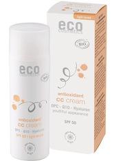 ECO COSMETICS - Eco Cosmetics Produkte Eco Cosmetics Produkte OPC. Q10 & Hyaluron - LSF50 CC Creme hell 50ml CC Cream 50.0 ml - Tagespflege