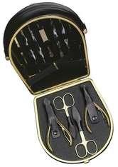 Hans Kniebes HK-Manicure Manicure-Etuis Manicure-Etui mit Koffer, Nappa-Vollrindleder, 162 x 150 mm schwarz 1 Stk.