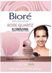 Bioré Rosenquarz Rose Quartz + Charcoal Facial Cleansing Bar Gesichtsreinigung 107.0 g