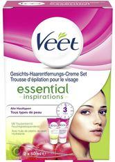 Veet Haarentfernung Cremes Essential Inspirations Gesichts-Haarentfernungs-Creme Set Haarentfernungs-Creme 50 ml + Sanft Pflegende Gesichtscreme 50 ml 1 Stk.