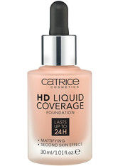 CATRICE - Catrice Teint Make-up HD Liquid Coverage Foundation Nr. 040 Warm Beige 30 ml - FOUNDATION