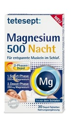 Tetesept Produkte tetesept Magnesium 500 Nacht Tabletten Nahrungsergänzungsmittel 42.6 g