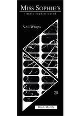 Miss Sophie's Nägel Nagelfolien Nail Wraps Black Marble 20 Stk. - MISS SOPHIE'S