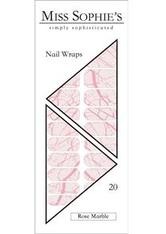 Miss Sophie's Nägel Nagelfolien Nail Wraps Rose Marble 20 Stk. - MISS SOPHIE'S