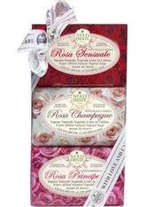 Nesti Dante Firenze Pflege Sets Le Rose Soap Set 1 x Rosa Champagne Soap 150 g + 1 x Rosa Principessa Soap 150 g + 1 x Rosa Sensuale Soap 150 g 1 Stk.