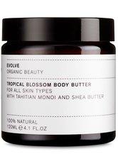 Evolve Organic Beauty Körperpflege Tropical Blossom Body Butter With Tahitian Monoi and Shea Butter Körperbutter 120.0 ml