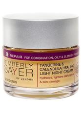 KIMBERLY SAYER OF LONDON - Tangerine & Calendula Healing Light Night Cream 60 ml - NACHTPFLEGE