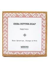 MIRINS COPENHAGEN - Shea Butter Soap Happiness - Rose Geranium, Orange & Mint 75 g - DUSCHEN & BADEN