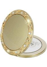 Fantasia Taschenspiegel, rund, Gold 10-fach Vergrößerung, Swarovski Elements, Ø 8,5 cm