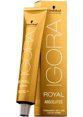 Schwarzkopf Professional Haarfarben Igora Royal Absolutes Permanent Anti-Age Color Creme 4-90 Mittelbraun Violett Natur 60 ml