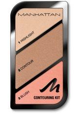 MANHATTAN - Manhattan Contouring Kit 001-St.Tropez Glow 18,5 g Make-up Palette - Contouring & Bronzing