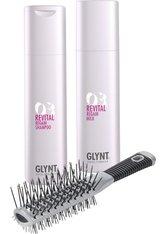 Set - Glynt Revital Shampoo + Revital Care Spray + Turbo Bürste Haarpflegeset