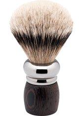 Becker Manicure Shaving Shop Rasierpinsel Rhodium-Rasierpinsel Wengeholz, Silberspitz 1 Stk.