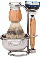 Becker Manicure Shaving Shop Rasiersets Rasierset Milano Fusion Gillette Fusion Olivenholz + Rasierpinsel Olivenholz + Ständer + Rasierseifenschale 1 Stk.