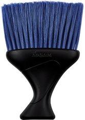 Denman Nackenwedel schwarz mit blauen Borsten Friseurzubehör