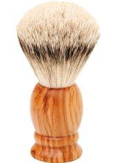Becker Manicure Shaving Shop Rasierpinsel Rasierpinsel Olivenholz, Silberspitz 1 Stk.