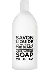 La Compagnie de Provence Liquid Marseille Soap White Tea Refill 1000 ml Flüssigseife