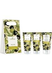 LaNature Geschenkset in Grifftasche klein Olive SG/BL/HC Pflegeset
