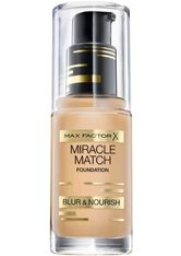 MAX FACTOR - Max Factor Miracle Match Foundation 55 Beige 30 ml Flüssige Foundation - Foundation