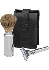 Becker Manicure Shaving Shop Rasiersets Rasier-Set in Ledertasche, Gillette Mach3 schwarz 1 Stk.