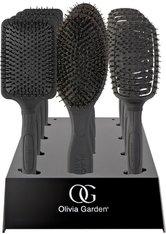 Olivia Garden Black Label Paddle 12er Display Bürstenset