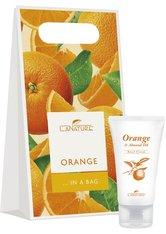 LaNature Geschenkset in Grifftasche klein Orange SG/BL/HC Pflegeset