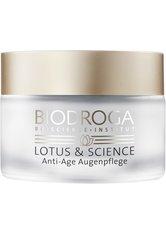 Biodroga Lotus & Science Anti-Age Augenpflege 15 ml Augencreme