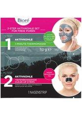 Bioré Aktivkohle Sachet Gesichtsmaske7 g + 1 Strip Gesichtspflegeset