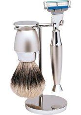 Erbe Shaving Shop Rasierset dreiteilig, Edelstahl/matt, Gillette Mach 3