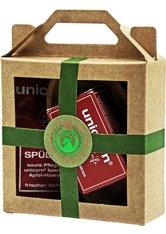 Unicorn Geschenk-Set mini-Apfel Haarseife 16g + sauer Spülung 10ml + Olive+A85:G100nholzschale klein rot Haarpflegeset