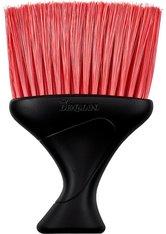 Denman Nackenwedel schwarz mit roten Borsten Friseurzubehör