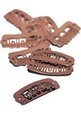 Balmain DoubleHair Clips 10er Set brown Abteilklammern