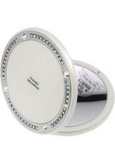 Fantasia Taschenspiegel weiß, Ø 10,5 cm 10-fach Vergrößerung, rund, Swarovski Elements