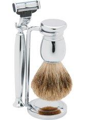 Erbe Shaving Shop Rasierset dreiteilig, Metall glänzend, Gillette Mach 3