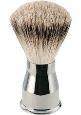 Becker Manicure Shaving Shop Rasierpinsel Rasierpinsel Silberspitz, Metallgriff glänzend 1 Stk.