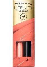 MAX FACTOR - Max Factor Lipfinity Lip Colour 148 Forever Precious 2,3 ml Pflegeset - Liquid Lipstick