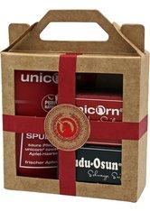 Unicorn Geschenk-Set mini-Apfel Haarseife 16g + sauer Spülung 10ml + Dudu Osun CLASSIC 25g rot Haarpflegeset