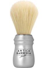 Mondial Antica Barberia Pure Bleached Bristle Rasierpinsel mit Kunststoff-Griff