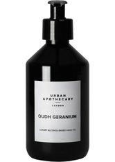 URBAN APOTHECARY - Urban Apothecary Oudh Geranium Luxury Hand Sanitiser Gel (70% Alcohol) 300 ml Handgel - HÄNDE