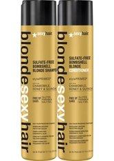 Set - Sexyhair Blonde Bombshell Shampoo + Conditioner Haarpflegeset