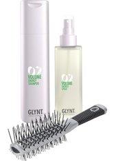 Set - Glynt Volume Shampoo + Energy Spray + Turbo Bürste Haarpflegeset
